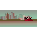 download Sydney Skyline clipart image with 315 hue color