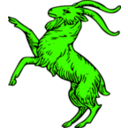 download Goat Rampant clipart image with 45 hue color