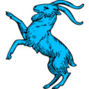 download Goat Rampant clipart image with 135 hue color