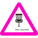 download Disc Golf Roadsign clipart image with 315 hue color