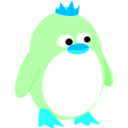 download Princess Penguin clipart image with 135 hue color