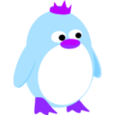 download Princess Penguin clipart image with 225 hue color