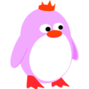 download Princess Penguin clipart image with 315 hue color