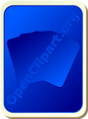 Card Backs Silhouette Blue