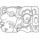 download Simbolo Maya 02 clipart image with 315 hue color