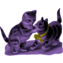 download Kittens One With Blue Ribbon clipart image with 225 hue color
