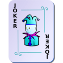 download Ornamental Deck Black Joker clipart image with 180 hue color