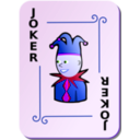 download Ornamental Deck Black Joker clipart image with 225 hue color