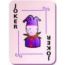 download Ornamental Deck Black Joker clipart image with 270 hue color