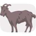 download Goat clipart image with 0 hue color