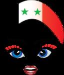 Pretty Syrian Girl Smiley Emoticon