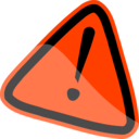 download Warning Sign clipart image with 315 hue color