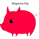 download Magenta Pig clipart image with 45 hue color