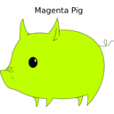 download Magenta Pig clipart image with 135 hue color