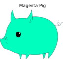 download Magenta Pig clipart image with 225 hue color