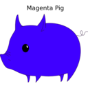 download Magenta Pig clipart image with 315 hue color