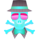 download Dapper Skull clipart image with 135 hue color