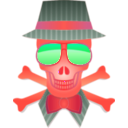 download Dapper Skull clipart image with 315 hue color