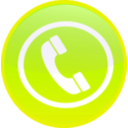 download Phone Icon Button clipart image with 45 hue color
