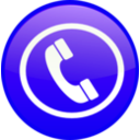 download Phone Icon Button clipart image with 225 hue color