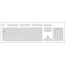 download Blank White Keyboard clipart image with 45 hue color