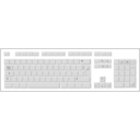 download Blank White Keyboard clipart image with 135 hue color