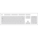 download Blank White Keyboard clipart image with 225 hue color