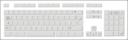 Blank White Keyboard