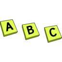 download Abc clipart image with 45 hue color