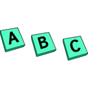 download Abc clipart image with 135 hue color