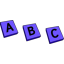 download Abc clipart image with 225 hue color