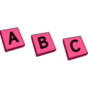 download Abc clipart image with 315 hue color