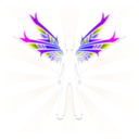 download Wings clipart image with 225 hue color