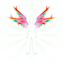 download Wings clipart image with 315 hue color