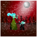 download Dancing Couple clipart image with 135 hue color