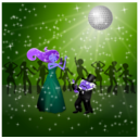 download Dancing Couple clipart image with 225 hue color