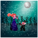download Dancing Couple clipart image with 315 hue color