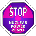 download Stop Nuclear Power Plant clipart image with 270 hue color
