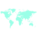download World Map clipart image with 315 hue color