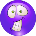 download Surprised Smiley Emoticon clipart image with 225 hue color