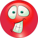 download Surprised Smiley Emoticon clipart image with 315 hue color