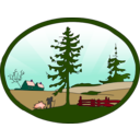 download Country Scene Redone clipart image with 315 hue color