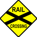 Cautio Railway Crossing