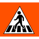 download Crossing Traffic Sign clipart image with 135 hue color