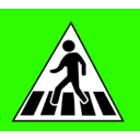 download Crossing Traffic Sign clipart image with 225 hue color