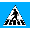 download Crossing Traffic Sign clipart image with 315 hue color