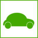 Eco Green Car Icon