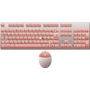 download Keyboard German Layout And Mouse 8212 Top Down View clipart image with 315 hue color