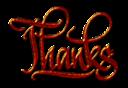 Thanks Textured Digital Calligraphy