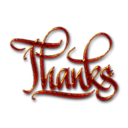 Thanks Textured Digital Calligraphy